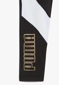 Puma - METALLIC SPLASH GIRLS LEGGING - Collants - black - 4