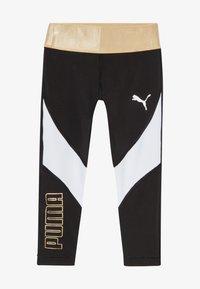 Puma - METALLIC SPLASH GIRLS LEGGING - Collants - black - 3