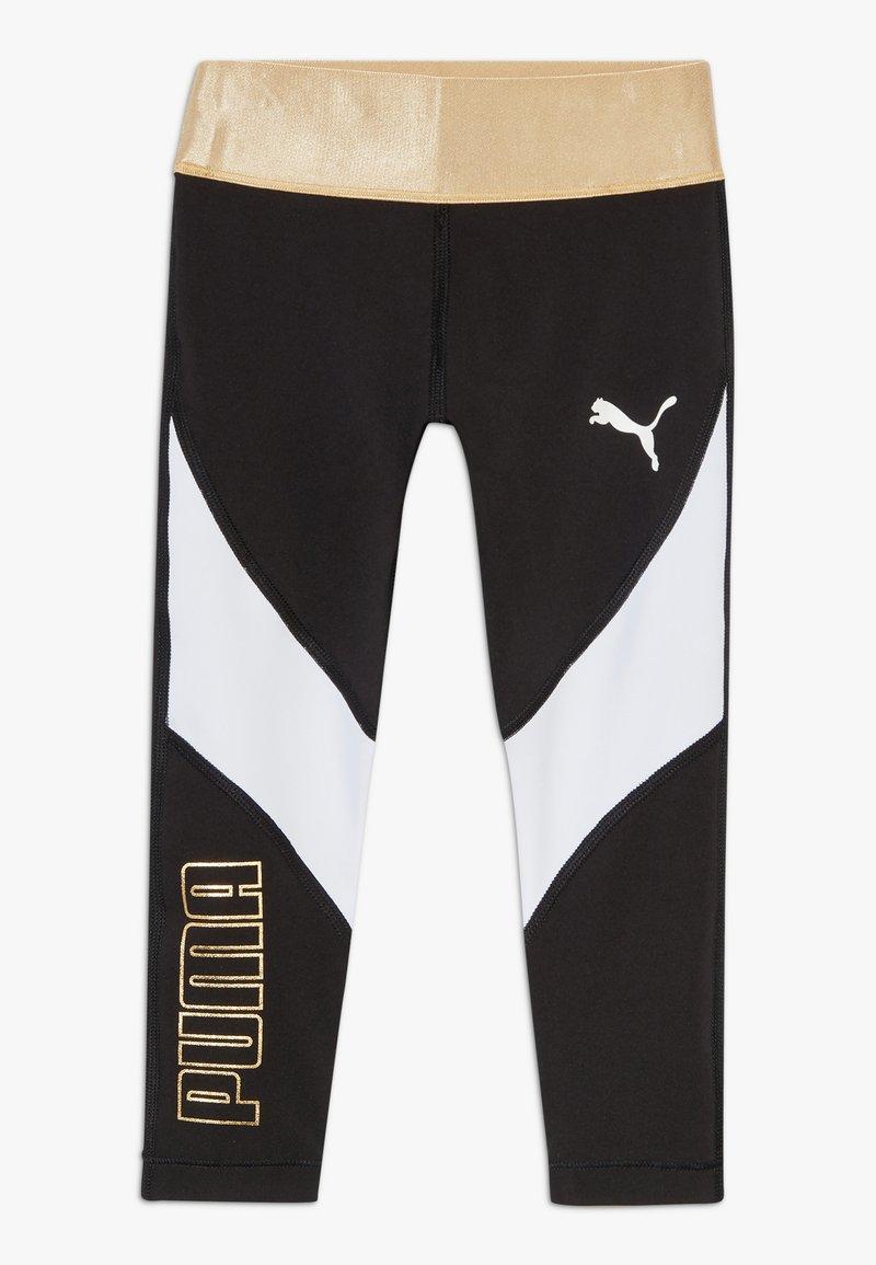 Puma - METALLIC SPLASH GIRLS LEGGING - Collants - black