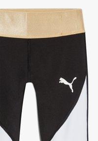 Puma - METALLIC SPLASH GIRLS LEGGING - Collants - black - 2