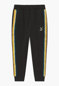 Puma - PUMA X ZALANDO TAPE - Tracksuit bottoms - black - 0