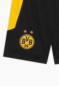 Puma - BVB BORUSSIA DORTMUND REPLICA - Sportovní kraťasy - black/cyber yellow - 3