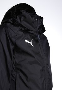 Puma - LIGA TRAINING RAIN JACKET CORE - Hardshell jacket - black/white - 3