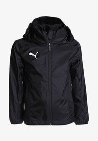 Puma - LIGA TRAINING RAIN JACKET CORE - Hardshell jacket - black/white - 0