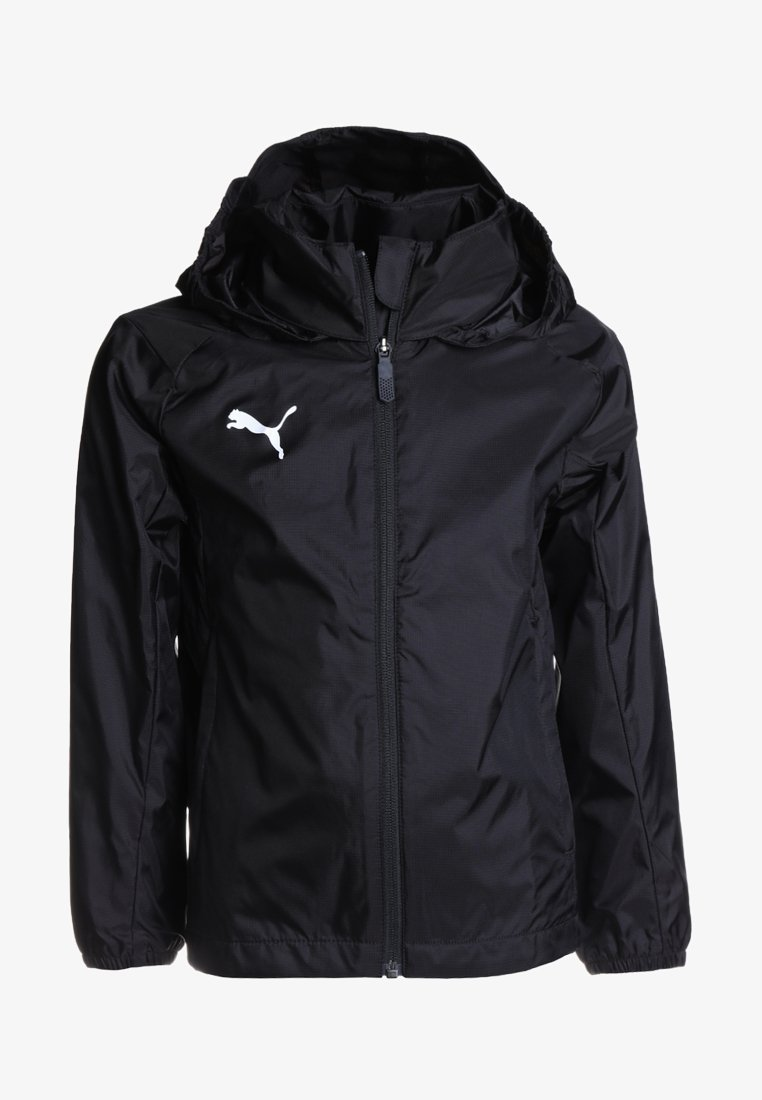 Puma - LIGA TRAINING RAIN JACKET CORE - Hardshell jacket - black/white