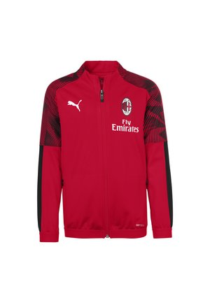 Sports jacket - tango red - black