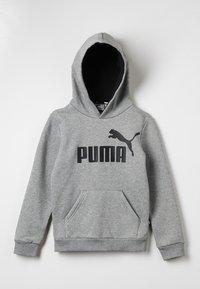 Puma - LOGO HOODY  - Hoodie - medium gray heather - 0