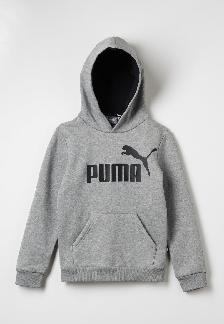 Puma - LOGO HOODY  - Hoodie - medium gray heather