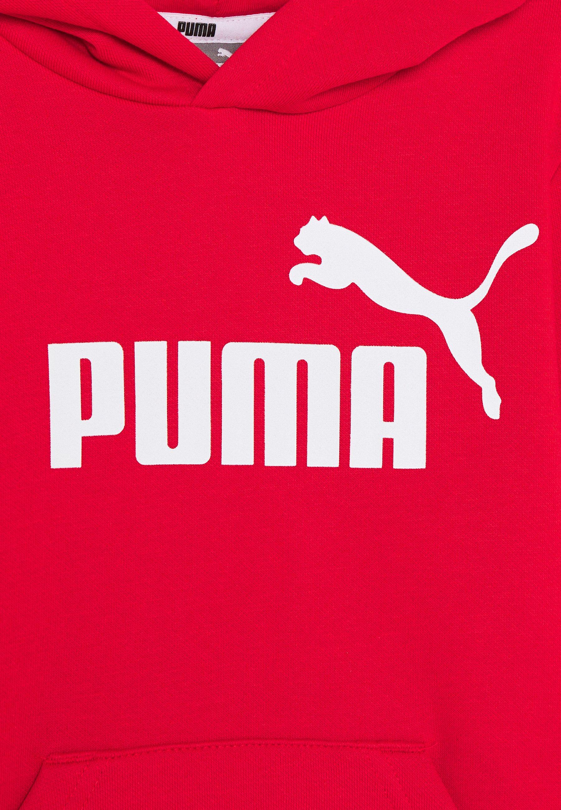Puma LOGO HOODY Kapuzenpullover high risk red