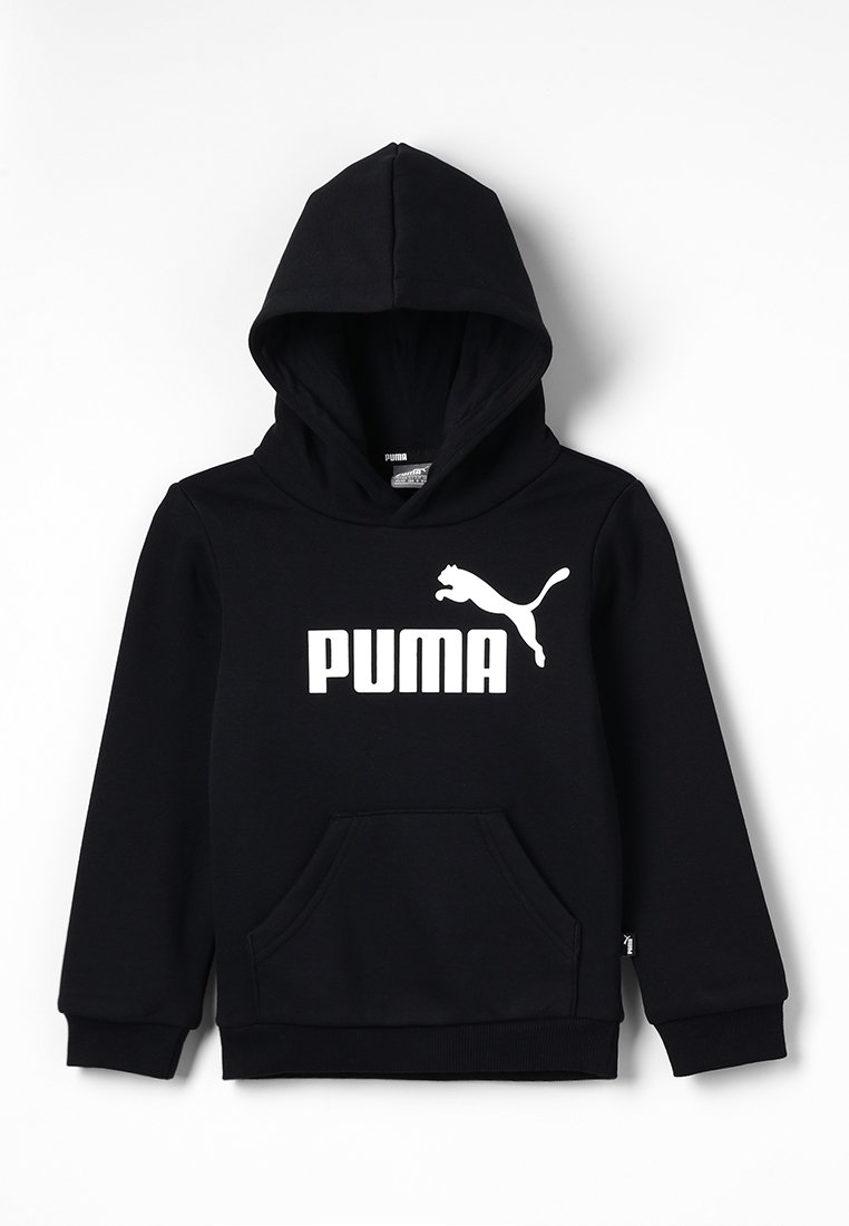 Puma - LOGO HOODY  - Sweat à capuche - cotton black
