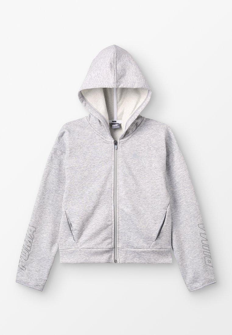 Puma - ALPHA HOODY - Zip-up hoodie - light gray heather