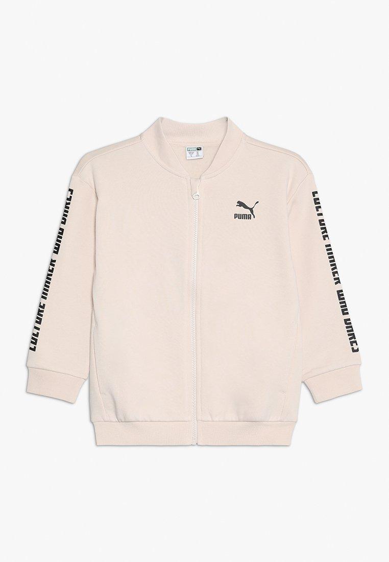 Puma - PUMA X ZALANDO FULL ZIP BOMBER - Zip-up hoodie - pink tint