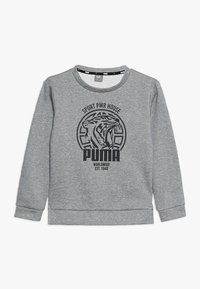 Puma - ALPHA GRAPHIC CREW - Sweatshirt - medium gray heather - 0