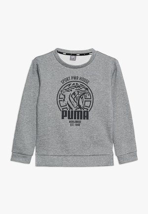 ALPHA GRAPHIC CREW - Sweatshirt - medium gray heather