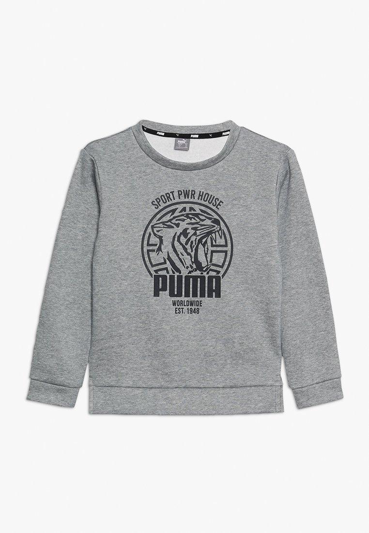 Puma - ALPHA GRAPHIC CREW - Sweatshirt - medium gray heather