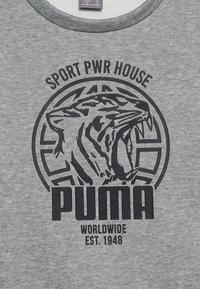 Puma - ALPHA GRAPHIC CREW - Sweatshirt - medium gray heather - 4