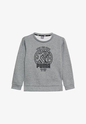 ALPHA GRAPHIC CREW - Sweatshirt - medium gray heather