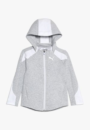 EVOSTRIPE HOODED JACKET  - Sudadera con cremallera - light gray heather