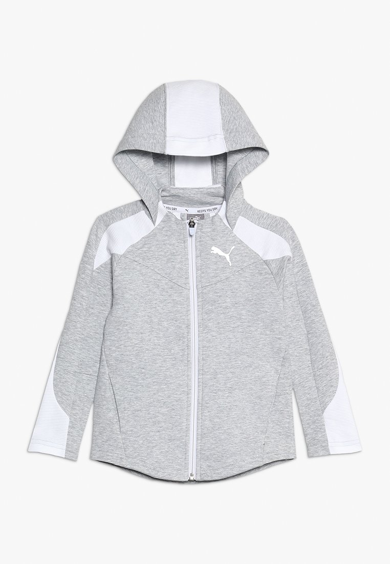 Puma - EVOSTRIPE HOODED JACKET  - Zip-up hoodie - light gray heather