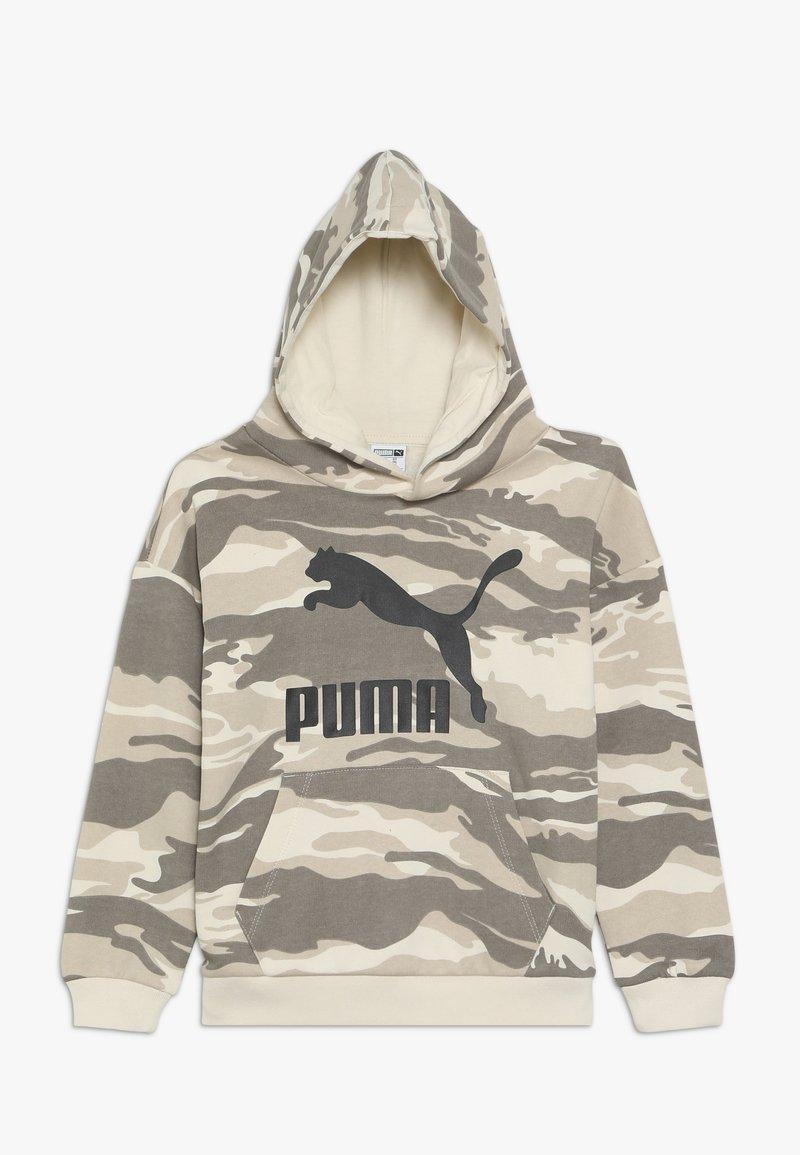Puma - CAMO HOODIE - Bluza z kapturem - white swan