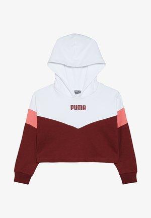 PUMA X ZALANDO COLOUR BLOCK HOODIE - Hoodie - burnt russet/shell pink/white