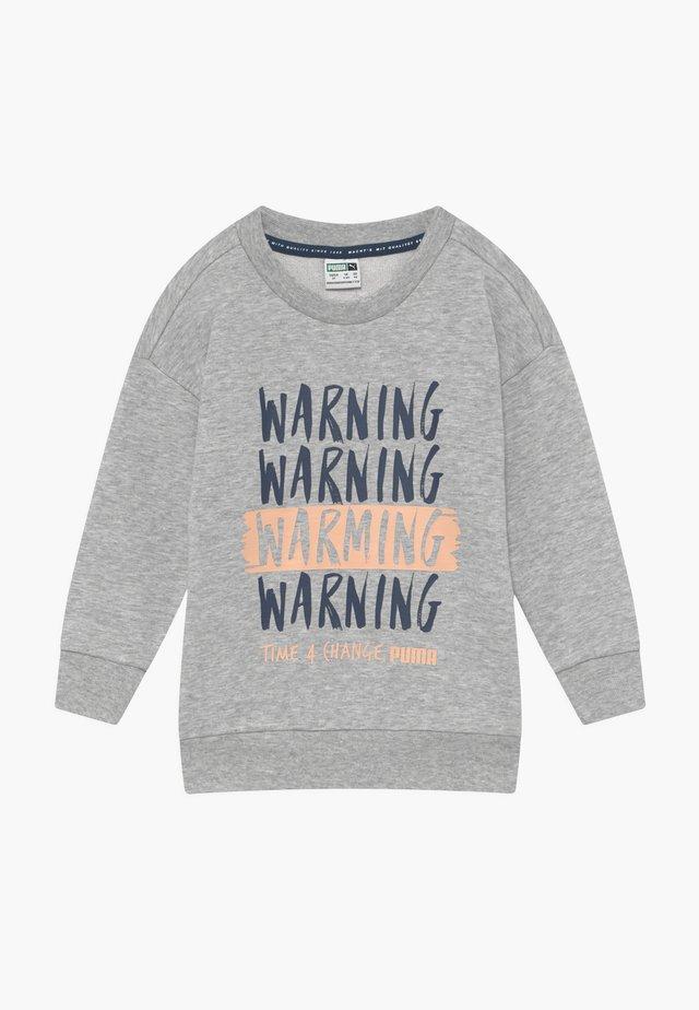 TIME FOR CHANGE CREW - Sweatshirt - light gray heather