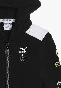 Puma - PUMA X SEGA HOODED JACKET - Mikina na zip - black - 4