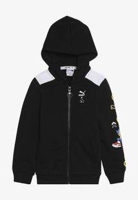 Puma - PUMA X SEGA HOODED JACKET - veste en sweat zippée - black - 3