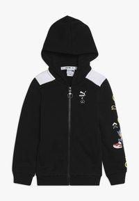 Puma - PUMA X SEGA HOODED JACKET - veste en sweat zippée - black - 0