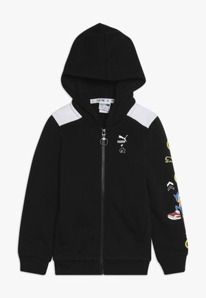 PUMA X SEGA HOODED JACKET - Mikina na zip - black