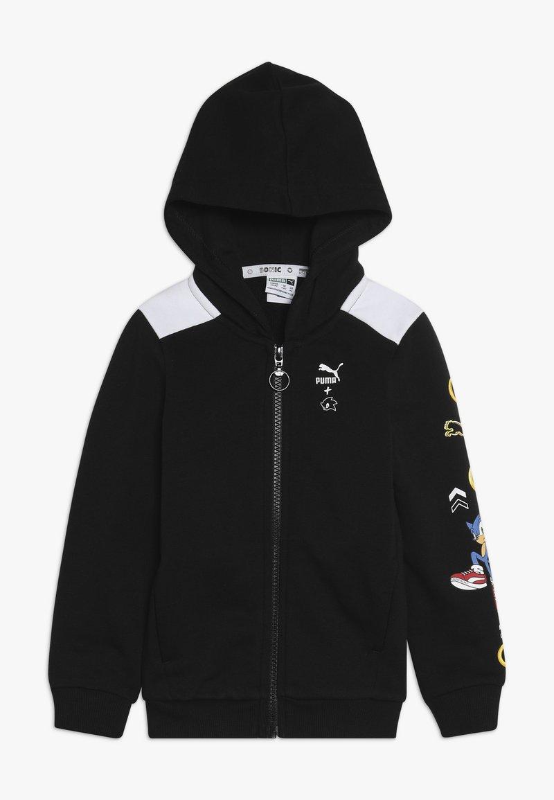 Puma - PUMA X SEGA HOODED JACKET - veste en sweat zippée - black