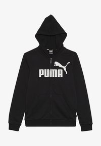 Puma - LOGO HOODED JACKET  - Bluza rozpinana - cotton black - 2