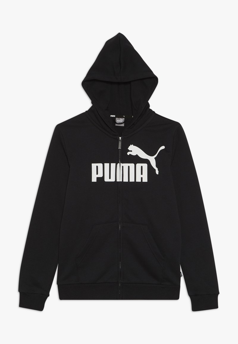 Puma - LOGO HOODED JACKET  - Bluza rozpinana - cotton black