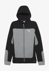 Puma - EVOSTRIPE HOODED JACKET  - veste en sweat zippée - medium gray heather - 3