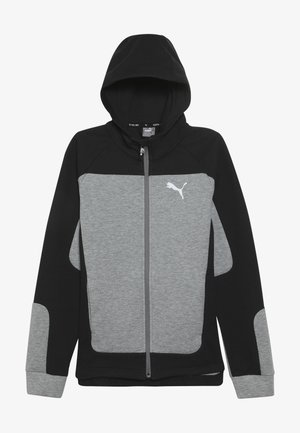 EVOSTRIPE HOODED JACKET  - veste en sweat zippée - medium gray heather