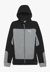 Puma - EVOSTRIPE HOODED JACKET  - veste en sweat zippée - medium gray heather - 0