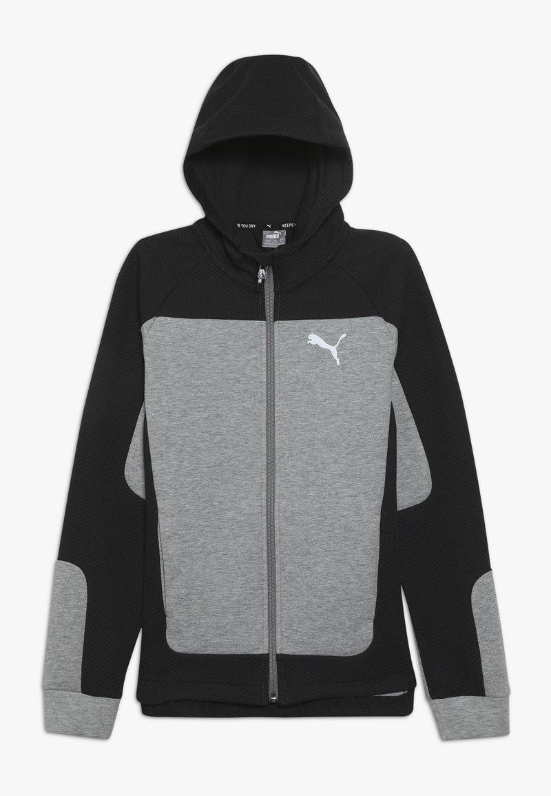 Puma - EVOSTRIPE HOODED JACKET  - veste en sweat zippée - medium gray heather