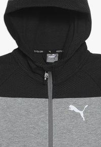 Puma - EVOSTRIPE HOODED JACKET  - veste en sweat zippée - medium gray heather - 4