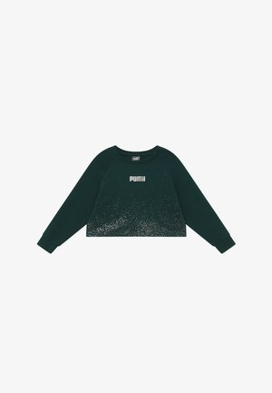 PUMA X ZALANDO METALLIC SPLASH GIRLS CREW - Sweatshirt - ponderosa pine