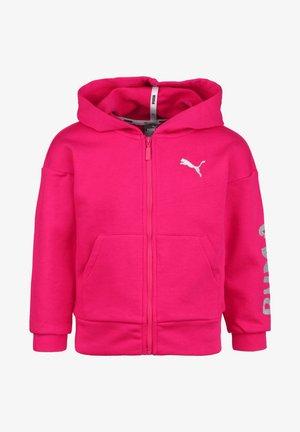 Zip-up hoodie - bright rose