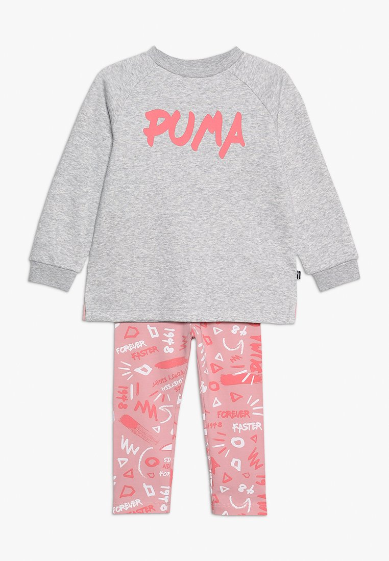 Puma - MINICATS GIRLS SET - Tracksuit - light gray heather