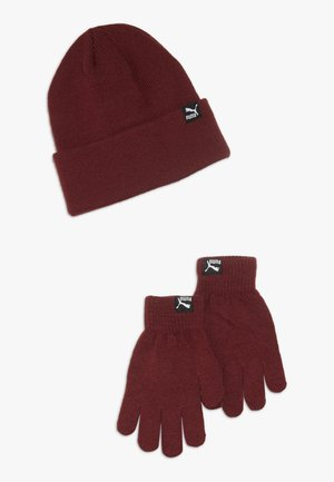 ORIGINALS BEANIE GLOVES SET - Fingervantar - pomegranate