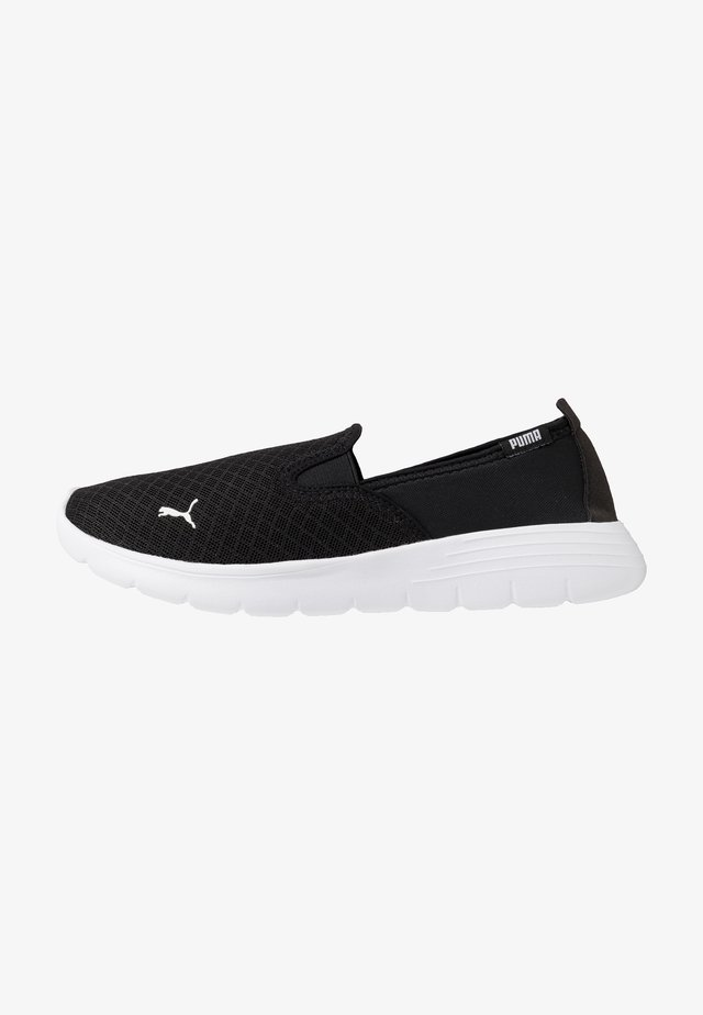 FLEX RENEW SLIPON - Chodecké tenisky - black/white