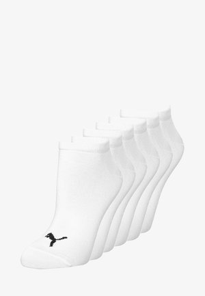SNEAKER PLAIN 6 PACK - Trainer socks - white