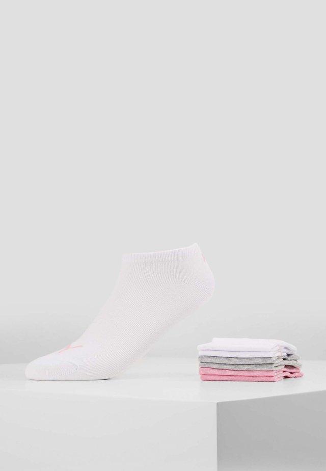 SNEAKER PLAIN 6 PACK - Trainer socks - prism pink