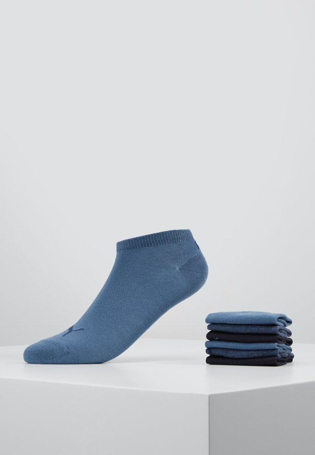 SNEAKER PLAIN 6 PACK - Ankelsockor - denim blue