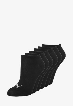 SNEAKER PLAIN 6 PACK - Calcetines tobilleros - black