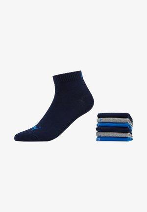 QUARTER 6 PACK - Sportsocken - blue/grey melange