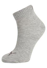 Puma - QUARTER 6 PACK - Sports socks - anthracite/light grey melange/medium grey melange - 1