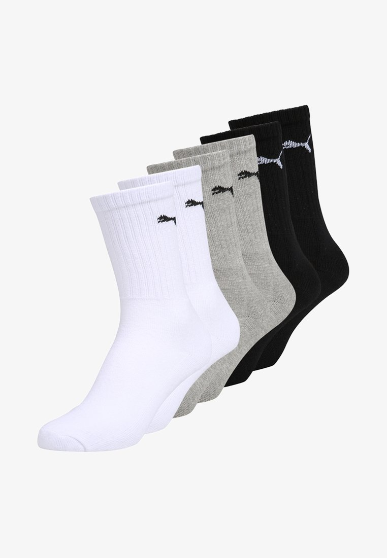 Puma - SPORT 6 PACK - Sportsocken - white/grey/black